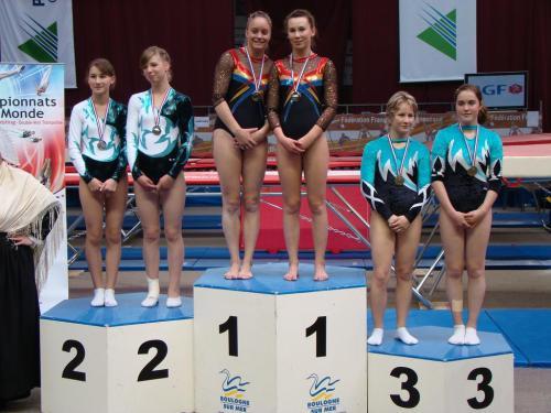 Podium synchro national junior