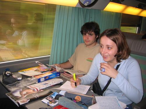 Antibes Dans le train