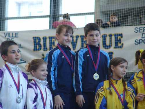 1ère médaille d'or pour Cléo et Maxime